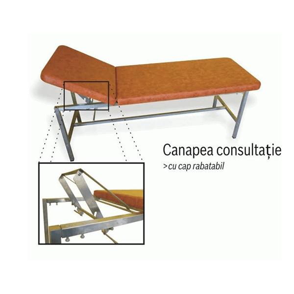 Canapea consultatii inox