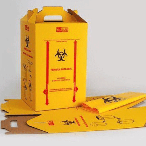 Cutii carton deseuri infectioase